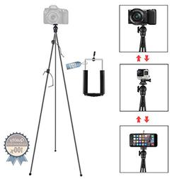 Phone Camera Stand Tripod, ZIPPOD 45 Inch Flexible And Compa