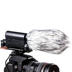 Zeadio 3.5mm Plug Photography Interview Stereo Microphone wi