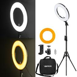 "18"" LED Photography Ring Light Dimmable 5500K Lighting Photo"
