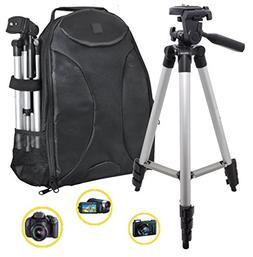 "PHOTOGRAPHY: 50"" Tripod & Sleek Digital SLR Camera/Camcorder"