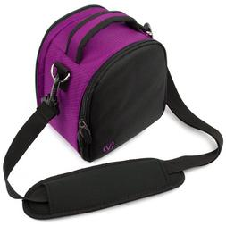 VanGoddy Laurel Plum Purple Carrying Case Bag for Canon Powe