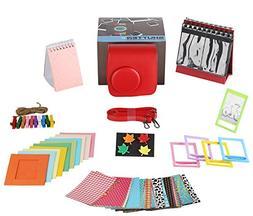 Polaroid 300 RED/Fujifilm Mini 7s Camera Accessories Bundle,
