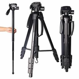 "Tripod for Camera-CAMBOFOTO 70"" 2 in 1 Tripod and Monopod"