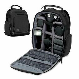 USA GEAR Portable Camera Backpack for DSLR/SLR  w/Customizab