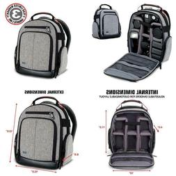 Usa Gear Portable Camera Backpack For Dslr/Slr  W/ Customiza