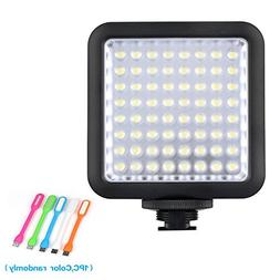 Godox LED 64 Continuous On Camera LED Panel light ,Portable