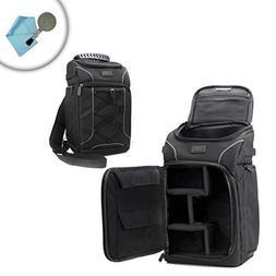 USA Gear Compact DSLR Camera Bag w/Waterproof Rain Cover & C