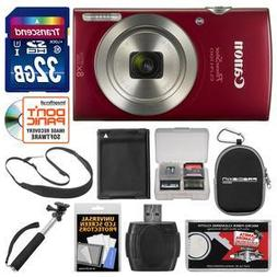 Canon PowerShot Elph 180 Digital Camera  with 32GB Card + Ca