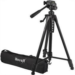 "Pro Heavyduty Lightweight Travel Tripod Pan SLR DSLR 61.5"" V"