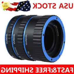 Pro Metal TTL Auto Focus AF Macro Extension Tube Ring For Ca