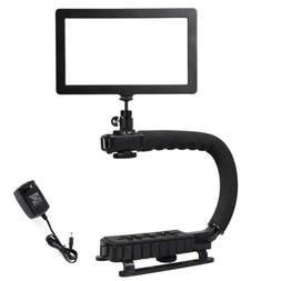 Pro SuperSlim LED Video Light Panel+C/U Shape Bracket Stabil