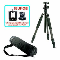 Professional Carbon Fiber Tripod Monopod & Ball Head for DSL