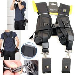 Professional Double Dual Shoulder Belt Harness Holder For DS