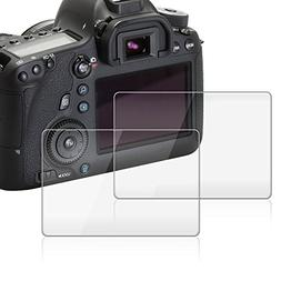 Screen Protector Compatible Canon EOS 6D, AFUNTA 2 Pack Came