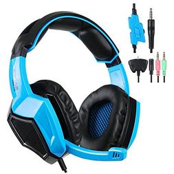 PS4 Headset, SADES SA-920 Stereo Gaming Over-Ear Headphone H