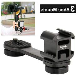 Ulanzi PT-3 Triple Cold Shoe Gimbal Microphone Mount Extenst