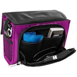 Purple VanGoddy Compact DSLR Shoulder Camera Bag For GoPro N