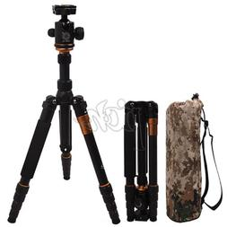 New Q-666 SLR Camera Tripod Monopod & Ball Head Portable Com