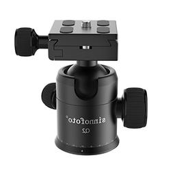Sinnofoto Q02 Exquisite CNC Shaped Camera Tripod Ball Head W