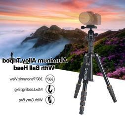 ZOMEI Q666 Portable Aluminum Tripod Monopod Travel Ball Head