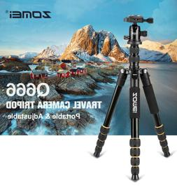Q666 Professional Portable Travel Camera Tripod Monopod DSLR