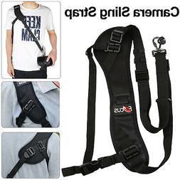 Quick Black Camera Neck Strap Shoulder Belt Sling for DSLR D