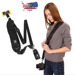 Quick Black  Camera Neck Strap Shoulder Belt Sling for DSLR