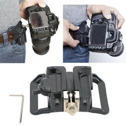 Quick Release Camera Holster Waist Belt Buckle Button Mount