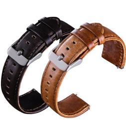 Quick Release Leather Watch Band Wrist Strap 22mm For Fossil