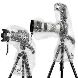 2x Camera Rain Cover for Canon Nikon DSLR Rain Sleeve Protec
