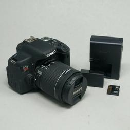 Canon Rebel EOS Rebel T6i Digital SLR Camera WIFI Lens EF-S