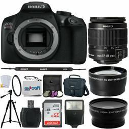 Canon Rebel T6 / 1300D DSLR Camera + 18-55mm 3 Lens Kit + 32