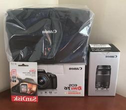 Canon Rebel T6 18MP DSLR Camera w/18-55 & 75-300mm USM Lens