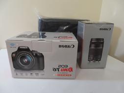 Canon Rebel T6 18MP DSLR Wi-Fi Camera with 18-55 75-300mm Le
