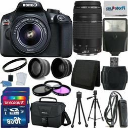 Canon Rebel T6 Digital SLR Camera + 32GB Top Value Bundle +