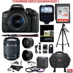 Canon Rebel T6i / EOS 750D DSLR Camera + 18-55mm Lens + 30 P