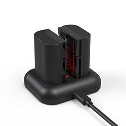 LP-E6, LP-E6N Battery Photoolex Rechargeable 2 Pack 2100mAh
