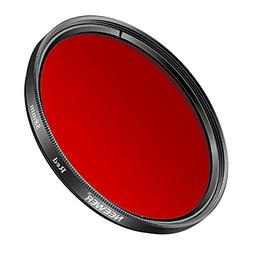 Neewer 58MM Red Filter for Canon EOS Rebel T6i T6 T5i T5 T4i