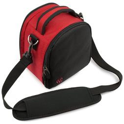 Laurel Compact Edition Red Nylon DSLR Camera Carrying Handba