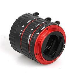Red Metal Auto Focus Macro Extension Tube Set for Canon SLR