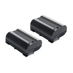 Bonacell 2 Pack Replacement 2000mAh Nikon EN-EL15 Battery fo