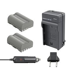 Bonacell 2 Pack Replacement 2000mAh Nikon EN-EL3E Battery an