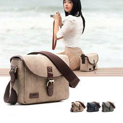 Retro Shoulder For DSLR Camera Bag Oxford Cloth Men Women Wa