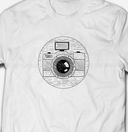 RETRO SLR CAMERA Photography Photographer 100% Cotton Mens &