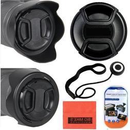 67mm Reversible Lens Hood + 67mm Lens Cap For Nikon DF, D90,