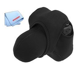 Tronixpro Medium Reversible Neoprene Stretchy Wrap Case, Bla