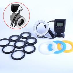 RF-550D LED Macro Ring Flash Light For Canon Nikon Pentax Ol