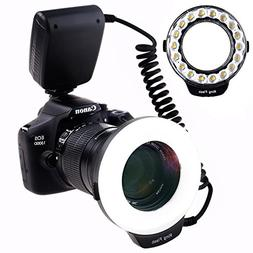 SAMTIAN Macro Ring Flash Photography with 18pcs SMD LED Ligh