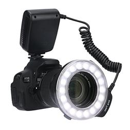Timack RF-600D 18 Macro LED Ring Flash Bundle with LCD Displ
