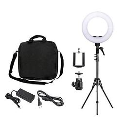 "ZOMEi 12"" LED Ring Light Dimmable for Video Youtube Portrait"